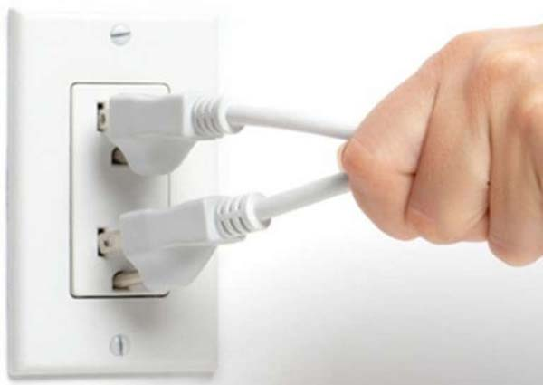 Unplug Electronics When Not in Use